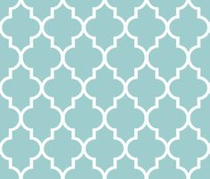 Blue and White Quatrefoil fabric by sparrowsong on Spoonflower - custom fabric