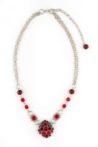 Trachten Halskette Trachtentraum, rot