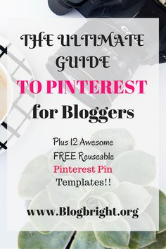 This Ultimate Guide includes Everything a Blogger needs to ROCK Pinterest and drive Massive Traffic back to your site. It also includes 12 FREE Pinterest Pin Templates that can be edited and used over and over. It's a great post with a great freebie! Enjoy!