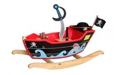 Ahoy M'Harties - Childrens Rocking Pirate Ship with Sword, Hat & Flag - great alternative rocker