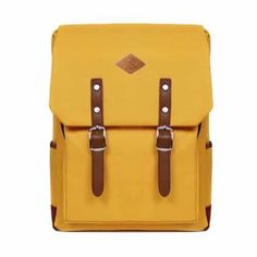 Cheap and Stylish Back to School Outfits Vintage Mustard Yellow Canvas Backpack. Back to School Outfits. Back School Outfits, School Outfits Highschool, Back To School Gifts, School Stuff, Yellow Backpack, Backpack Outfit, Laptop Backpack, Best Backpacks For School, Cool Backpacks