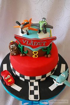 Cars and Planes Cake- If only I had the talent. He would LOVE this
