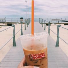 Long walks on the beach are better with a DD Iced Coffee in hand (Credit:@melisfoulks)