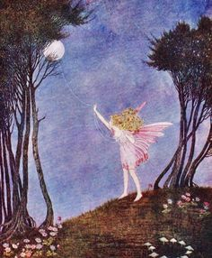 thefaeriefolk:  Catching the moon on a rope of dewdrops by Ida Rentoul Outhwaite