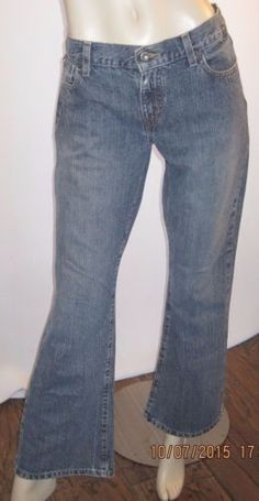 Tommy-Jeans-Size-11-34-W-X-30-Inseam-Vintage-Distressed-Boot-Cut-Blue-Jeans