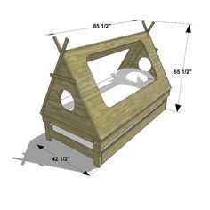 http://www.thedesignconfidential.com/2016/03/diy-furniture-plans-build-kids-teepee-trundle-bed