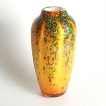 Amber Wisteria Classic Vase – Fusion Art Glass Online Store