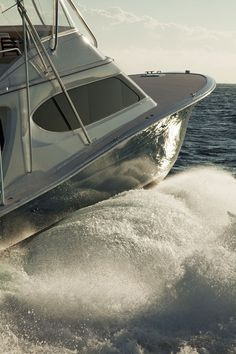 Hatteras Yachts' is a serious sport-fisherman that can dominate a rough sea and chase down the most maniacal of Marlin. Look at that Carolina flair Ocean Fishing Boats, Sport Fishing Boats, Fly Fishing, Fishing Reels, Yacht Design, Boat Design, Speed Boats, Power Boats, Hatteras Yachts