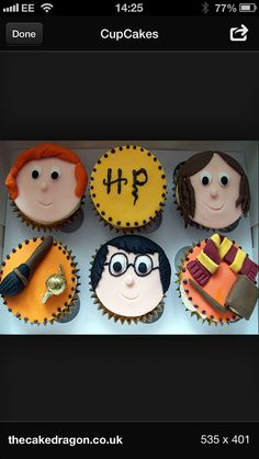 Harry potter Harry Potter Cupcakes, Sweets, Desserts, Food, Tailgate Desserts, Deserts, Gummi Candy, Candy, Essen