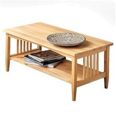 Mission Natural Coffee Table - Linon