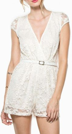 i love lacey romper in ivory