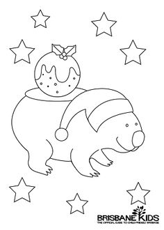 christmas colouring in wombat kids christmas coloring pages christmas art for kids christmas activities