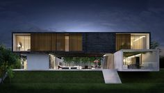 3D visualization of a luxury house in Morelia, Mexico on Behance