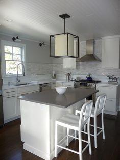 Suzie: Kelley Gardener Home Stylist - Beautiful beach cottage kitchen with beadboard ceiling ...