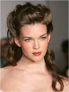 This up do looks neat. Perfect for prom night.