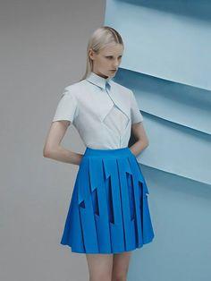 Our young designer crush: Georgina Hardinge. So fresh, innovative and contemporary! #new #designer #young #fashion
