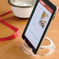 Our clever Tablet & eReader Stand holds your tablet, iPad® or eReader three ways!