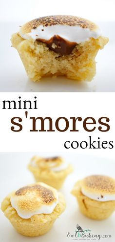 Smores cookies, summer dessert, dessert for a BBQ New Year's Desserts, Great Desserts, Summer Desserts, Delicious Desserts, Yummy Food, Smores Cookies, Mini Cookies, Cookie Cups, Cookie Recipes