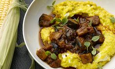 The new vegetarian: Yotam Ottolenghi prepares sweetcorn polenta w aubergines sauce | Life and style | The Guardian