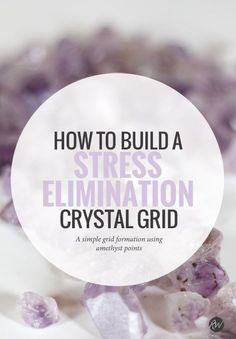 This amethyst-based crystal grid will zap anxiety and leave you feeling light, refreshed and totally reinvigorated | Rogue Wood Supply