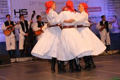 Croatian folklore dancers.