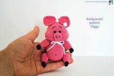Piggy amigurumi pattern PDF file Amigurumi toy Amigurumi doll #amigurumi #crochet #pigs