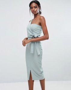 Compra Vestido de tubo asimétrico con detalle de lazada de Lavish Alice en  ASOS. Descubre la moda online.