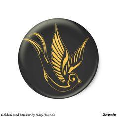 Golden Bird Sticker