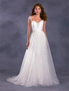 New Alfred Angelo Jasmine Wedding Dress With Detachable Tulle Skirt
