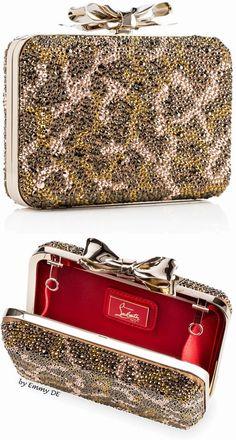 Brilliant Luxury by Emmy DE * Christian Louboutin 'Fiocco' Box Strass Clutch