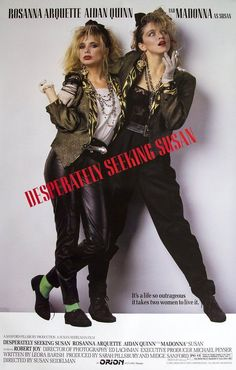 """Desperately Seeking Susan"" Starring Rosanna Arquette, Aidan Quinn and Madonna. Aidan Quinn, Desperately Seeking Susan, 80s Movies, Great Movies, 80s Movie Posters, Retro Posters, Awesome Movies, Famous Movies, Comedy Movies"