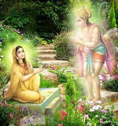 Mata Sita,lord Hanumam