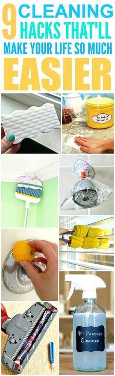 These 9 cleaning hacks for every room in the house are THE BEST! I'm so happy I found these AMAZING tips! Now I have fast and easy home cleaning tips and tricks! Definitely pinning!