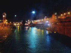 Har ki pauri at night,haridwar
