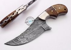 "6.50"" Custom Made Beautiful Damascus steel skinning Knife (1040) #KnifeArtist"