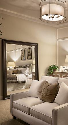 master bedroom, love seat, bedroom seating, design ideas
