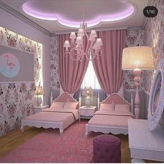 Pretty Princess Bedroom Design And Decor Ideas For Your Lovely Girl Baby Bedroom, Girls Bedroom, Rich Girl Bedroom, Twin Girl Bedrooms, Bedroom Furniture, Bedroom Decor, Bedroom Ideas, Girl Bedroom Designs, Princess Room