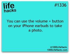 volume button on iPhone to take photo