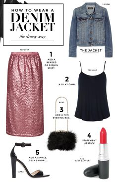 How to dress up a denim jacket
