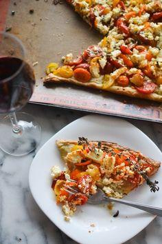 Simple Tomato Feta Tart