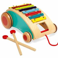 Turn your tike into a regular Pied Piper with this rolling xylophone by Janod. #ParentsMagazine #ParentsGifts