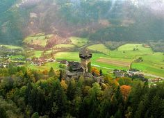 Falkenstein -- Falconstone -- seems to have been irresistible name for German speaking castle builders. Austria, Feldkirch, Carinthia, Wish I Was There, Old Churches, Central Europe, Best Beer, Beautiful Buildings, Alps