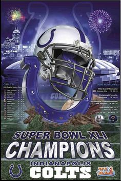 61e611813fd Image detail for -Indianapolis Colts Super Bowl XLI Champions! Poster Nfl  Colts