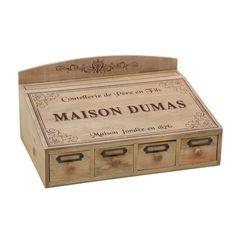 Wooden Cutlery Box - Maison Dumas