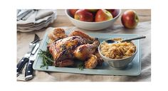 Rosemary Roasted Chicken with Homemade Applesauce