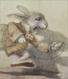 Alice's Adventures in Wonderland, the white Rabbit ~ Illustrated by Robert Ingpen