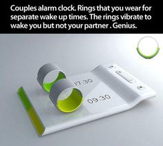 Couples Alarm Clock sooo cool I need this! instead of Ernie's rooster screaming at me!
