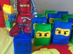Party set of 20 Lego Ninjago birthday goodie bags on Etsy, $10.00