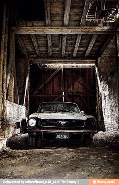 Old barns and old cars