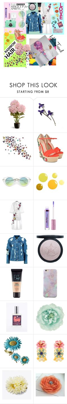 """Untitled #566"" by casssiaaa ❤ liked on Polyvore featuring beauty, National Tree Company, Gucci, House of Holland, Lime Crime, Boohoo, Maybelline, Monsoon and Kenneth Jay Lane"